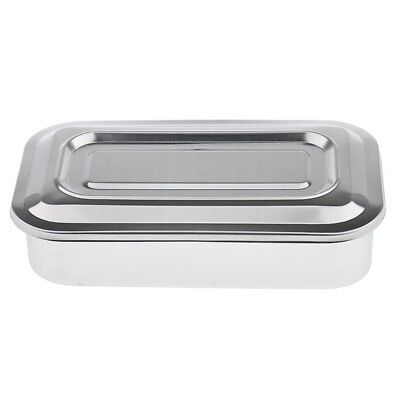 1X(Stainless Steel Container Organizer Box Instrument Tray To Storage Box W G0R1