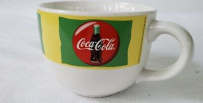 1999 COCA COLA By Gibson   SOUP Mug  White RED BLACK Yellow Green
