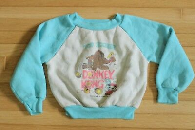 Vintage 9M-18M Infant Toddler Donkey Kong Sweater / Rare! / Childrens Clothing