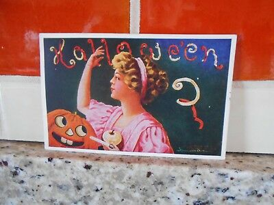 Halloween 1908 ~ Embossed Signed Art Pub Company POSTCARD - Posted