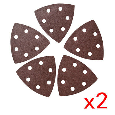 10Pc 90mm*90mm*90mm Sanding Disc For Grits 60 6 Holes Sandpaper