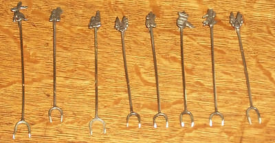 Old Taxco Mexican Sterling Silver Cocktail Garnish Fork Pickle Martini Olive Pik