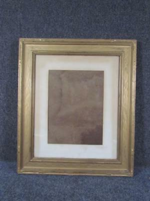 ANTIQUE 1920s HAND CARVED ARTS & CRAFTS PAINTING FRAME, FITS 17X14 INCHES