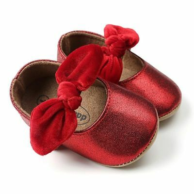 Newborn Baby Shoes Infant First Walkers Bow Soft Soled Girls Sneaker 0-18 months