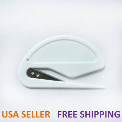 Office Equipment Safety Paper Sharp Mail Envelope Letter Opener Guarded Plastic