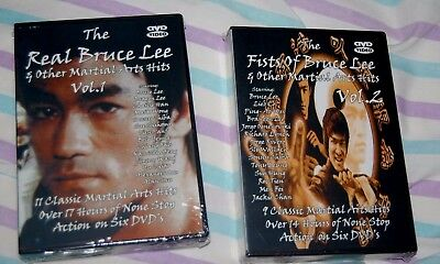 "2 Bruce Lee New DVD""s Vol 1 & 2 Fist of Bruce Lee & the Real Bruce Lee"