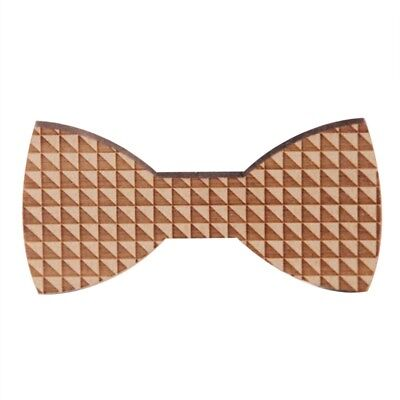 1X(Wood Bow Ties For Men Wooden Mens Bow Ties for Wedding Party Yarn Butter H6D3