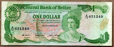 Belize VF Note 1 Dollar January 1987 P-46