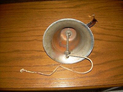 Vintage Ship Dinner Bell Silver Plated Over Brass