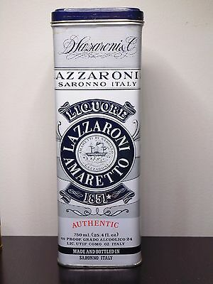 D Lazzaroni & Co Saronno Italy Amaretto Empty Tin