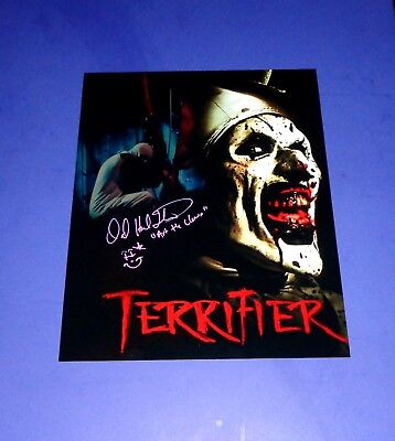 David Howard Thornton Art The Clown Autographed 11x14 Photo Terrifier FREE SHIP