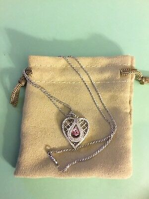 Bella Luce Cubic Zirconia Pink Heart Dancing Pendant With Chain 2.70ctw