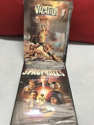 Two 2 Dvd Spaceballs + National Lampoon'S Vacation New Sealed Free Shipping