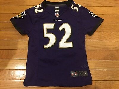 BALTIMORE RAVENS RAY Lewis  52 Nike NFL Jersey Youth Size Small 7 8 ... bc93b6b65