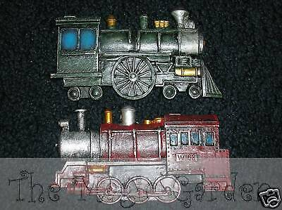 2 train locomotive plaster craft latex  molds moulds