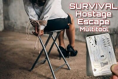 #EDC Escape Hostage Survival Card Multi Tool Credit Card Size FREE DELIVERY