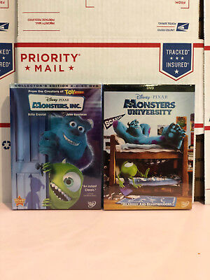 Monsters, Inc. and Monsters University (DVD, 2-Disc Set, Collectors Edition)