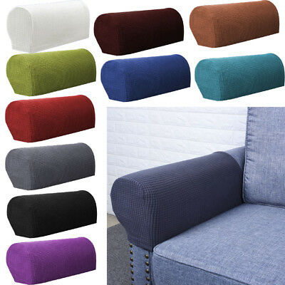 1 Pair Pixel Sofa Arm Protectors Armrest Covers Armchair Slipcovers Stretch AU