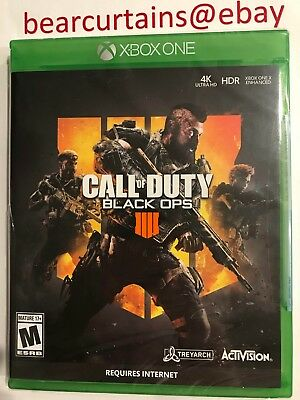 Call of Duty Black Ops IIII 4 IV XBox One Brand New Sealed Fast Ship w Tracking