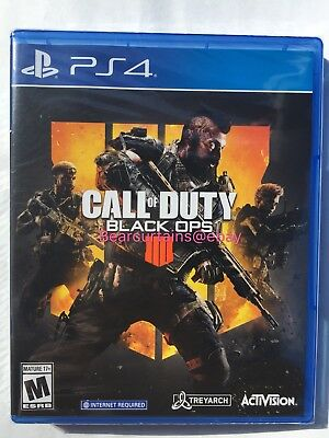 Call of Duty: Black Ops 4 PS4 IIII IV Brand New Sealed Fast Ship w Tracking