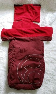 Cybex Footmuff -great condition *RED* FOR STROLLERS