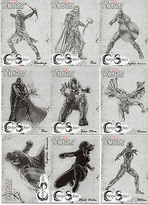 2015 Marvel Avengers Age of Ultron; 15 Card Concept Series Chase Set