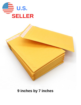 "9"" by 7"" waterproof bubble mailer with self sealing envelope flaps (Pack of 10)"