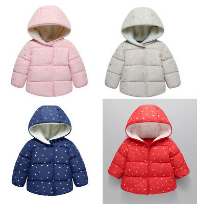 2018 Winter Baby Girls Boys Star Padded Short Fashion Coats Toddler Kids Outwear
