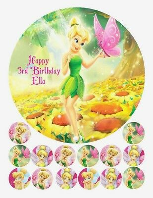 Tinkerbell Edible Premium Icing Birthday Party Cake Decoration Image Topper