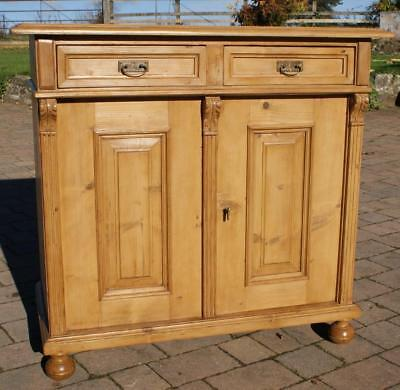 A BEAUTIFUlL EAST GERMAN STRIPPED PINE DRESSER BASE / SIDEBOARD
