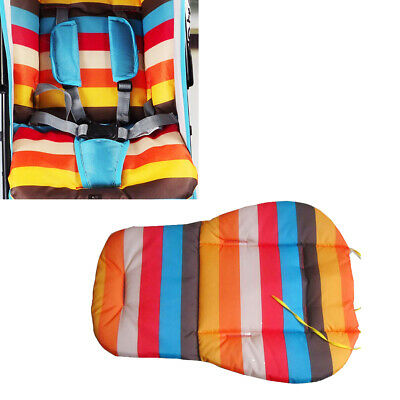 Soft Pram Cushion Rainbow Color Stroller Seat Pad Practical Pushchair Seat Liner
