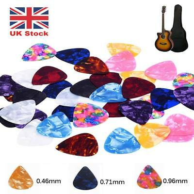 100 Guitar Picks Electric Acoustic Bass Standard thin Plectrums - 3 Of Each Size