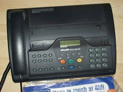 Olivetti Fax Machine - Fax-lab 350 ,with manual  used ,