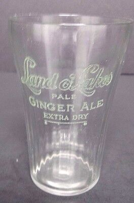 Land O Lakes Pale Ginger Ale Extra Dry Glass