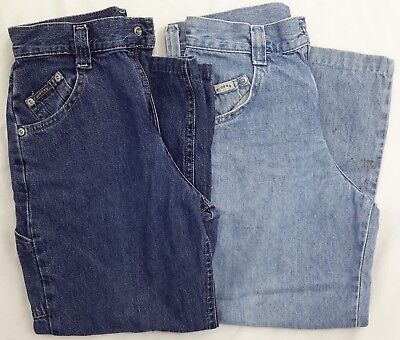 """Lee Rider Jeans Size 10R Carpenter Pants 2 Pairs 21 1/2"""" Inseam 5 Pockets Used"""