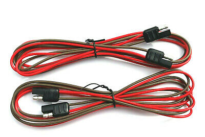 2 Pole Flat Connector trailer SAE plug two 60 inch harnesses 10A Rating USA made