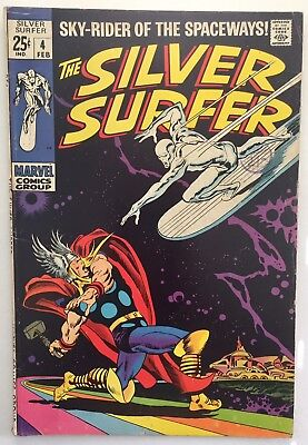 The Silver Surfer #4 Vol 1 feat Thor. 1969. Marvel. VG+
