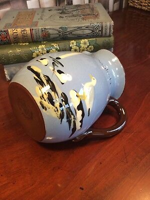 A Charming Babbacombe Devon Pottery Cream Jug Sea Gull Hand Painted Perfect.