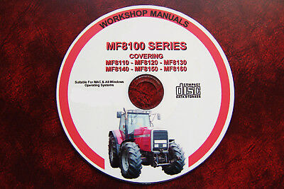 Massey Ferguson Mf8110 8130 8140 8150 8160 Mf Workshop Service & Operator Manual