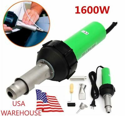 1600W 50Hz Hot Air Torch Gun Plastic Welding Heat Welder Pistol 40-650℃ + Nozzle