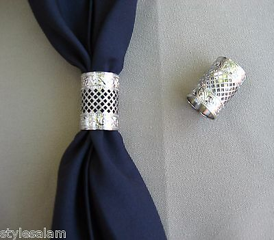 Scarf apache tie slide country western square dance cowboy NEW silver color