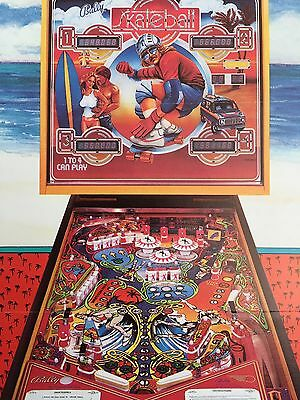 SKATEBALL by BALLY1980 PINBALL PROMO BROCHURE IN PLASTIC COVER