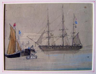Cookson Family A Frigate At Anchor K.c. W/col C1825