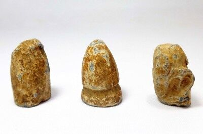 Rare Mid-19Th C Ant Excavated 3 Union Army Civil War Lead Bullets W/teeth Marks