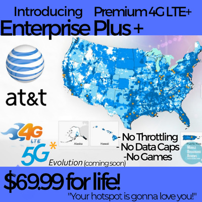 At&t Velocity Hotspot +Unlimited 4G Lte Data Plan No Throttling $29.99/month