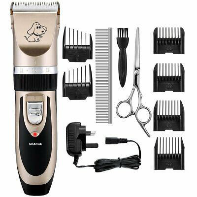 Pet Dog Cat Electric Hair Trimmer Clipper Grooming Kit Rechargeable Cordless LED