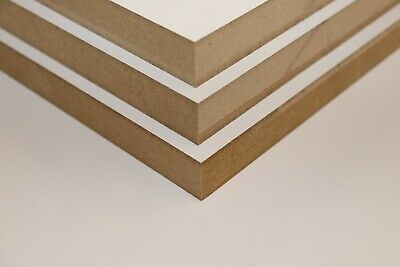 8mm & 18mm White Melamine MDF Sheets - MDF Shelf - MDF Panel
