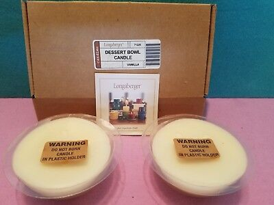 Longaberger Dessert Bowl Candle Candles Vanilla 71225