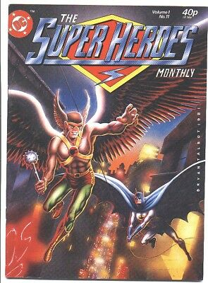 Super Heroes Monthly 1981 HAWKMAN ORIGIN JLA Mint