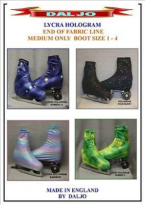 Ice Skating / Roller Skating  Lycra Hologram Boot Covers Medium Only 3